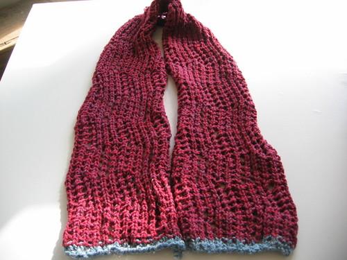 Rebecca's birthday scarf