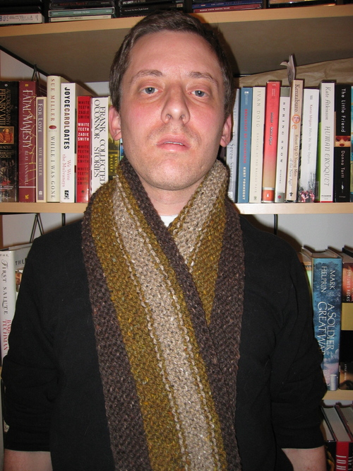 Men's Rustic Scarf from Last Minute Knitted Gifts